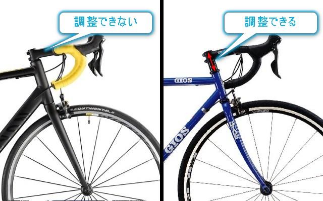 ロードバイクのハンドル位置調整 photo by GIOS/CANYON