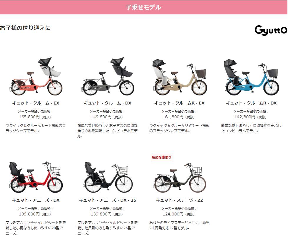 Panasonicギュット 価格表